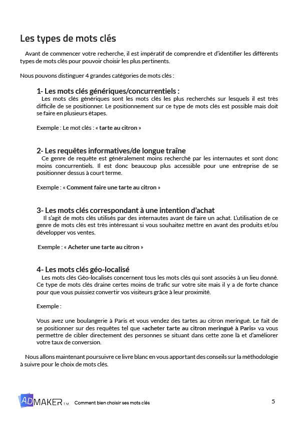 Livre Blanc Choix De Mots Cles Admaker Tm