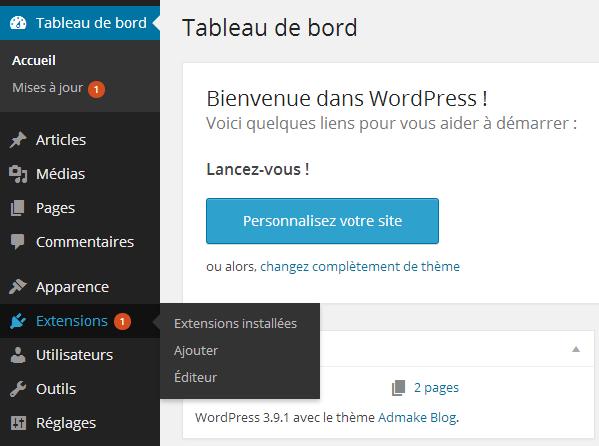 Ajouter une extension WordPress