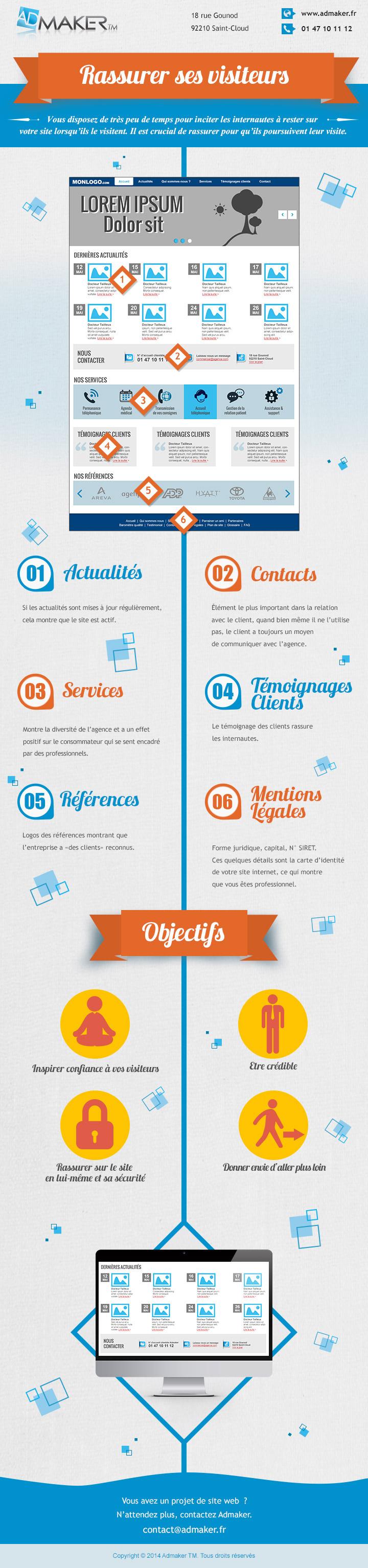 Infographie e-commerce : 6 points pour rassurer les visiteurs d'un site web