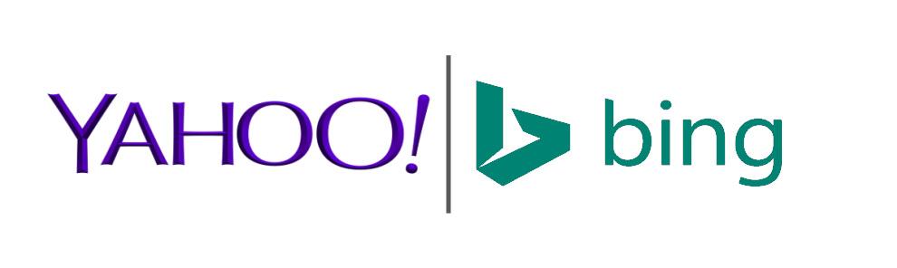 Les logos du moteur de recherche yahoo et du moteur de recherche bing