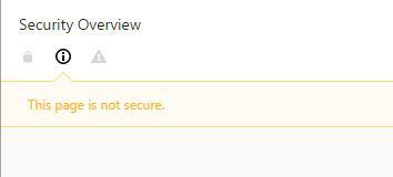 exemple d'alerte dans le navigateur Google Chrome lorsque l'internaute se trouve sur une page web non sécurisée