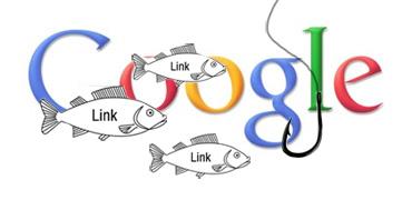 Logo de google dans un bocal avec des poissons et un hameçon