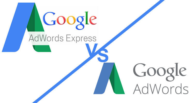 logo google adwords express versus logo google adwords