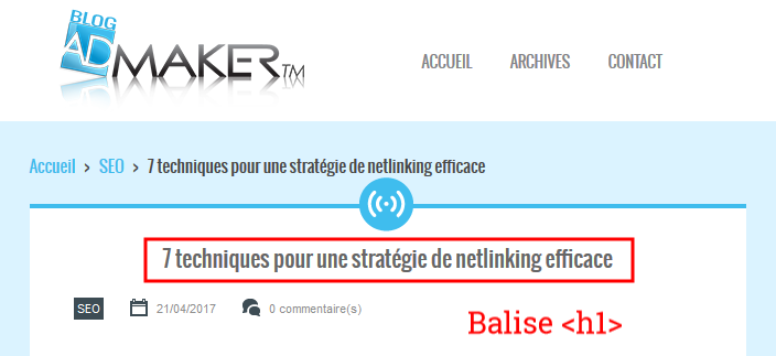 exemple de titre d'article optimisé pour le web