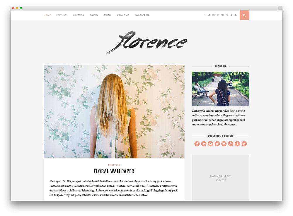exemple de site en classique web design