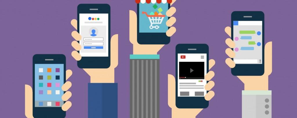 illustration de différents formats publicitaires mobile