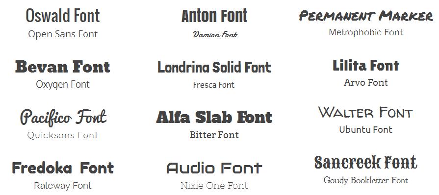 exemple de mélange de typographies