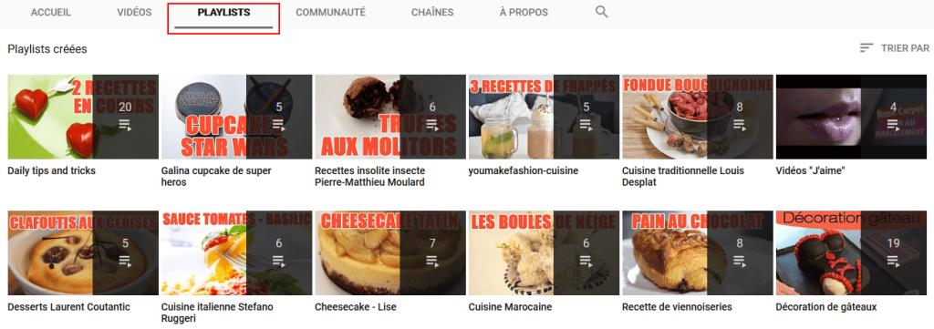Catégorisez vos vidéos youtube en playlists