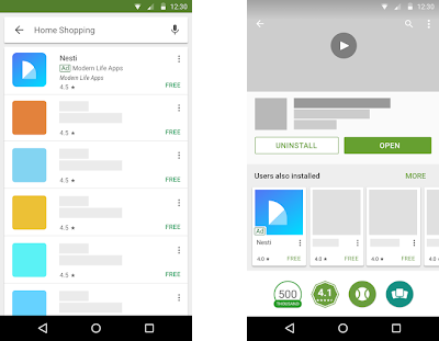 campagnes universelles de promotion d'applications mobiles : les formats pour google play