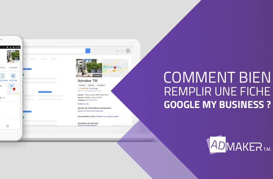 admaker agence digitale image à la une Comment bien remplir une fiche Google My Business ?