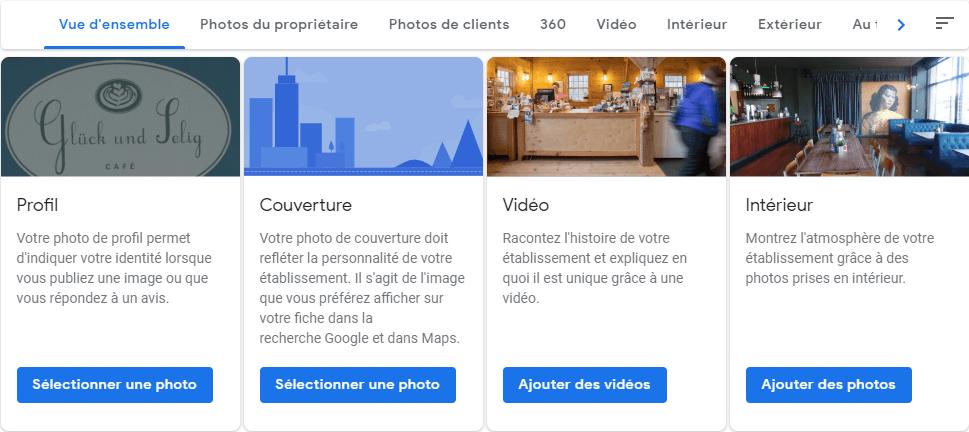 agence digitale admaker bien remplir l'album photos de votre établissement dans google my business