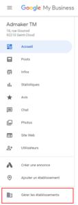 agence digitale admaker créer un groupe d'établissements google my business étape 2