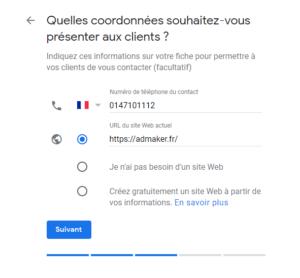 agence digitale admaker guide pour créer une fiche google my business - étape 6