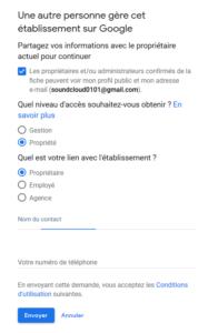 agence digitale admaker recupérer les droits de votre fiche google my business étape 5