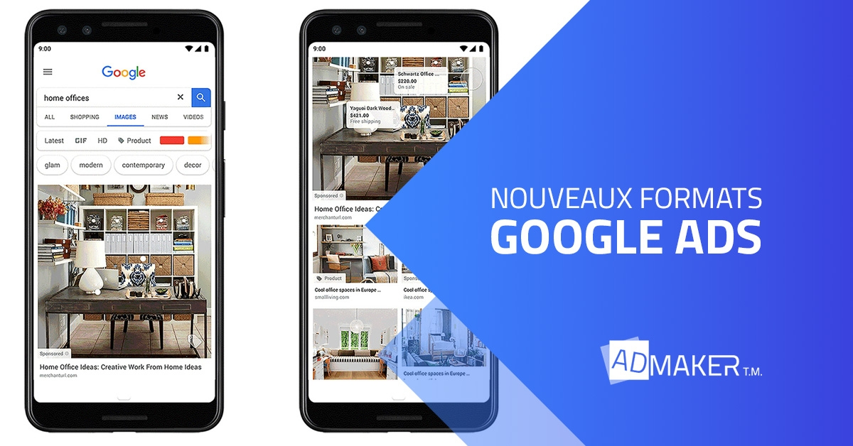 admaker agence digitale image à la une Nouveaux formats google ads